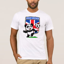 Men's Basic American Apparel T-Shirt with Great Britain Football Panda design