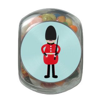 British Soldier Jelly Belly Candy Jar