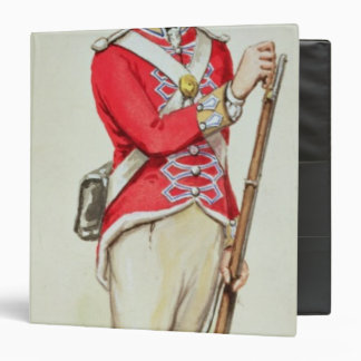 British soldier in Napoleonic times 3 Ring Binder