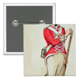 British soldier in Napoleonic times Pinback Button