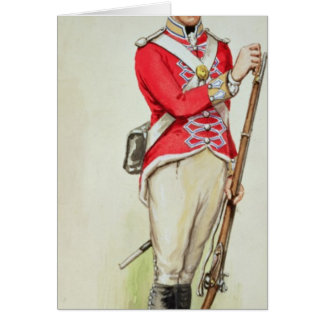 British soldier in Napoleonic times Greeting Card