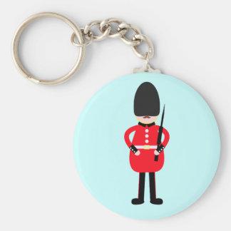 British Soldier Basic Round Button Keychain