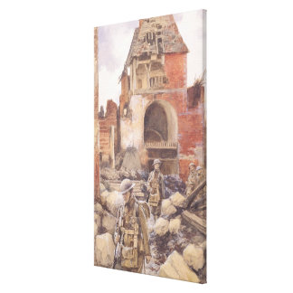 British Soldiers in the Ruins of Peronne, 1917 Canvas Print