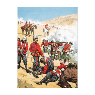 British soldiers of the 19th century gallery wrap canvas