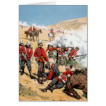 British soldiers of the 19th century greeting card