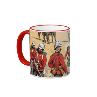 British soldiers of the 19th century coffee mugs