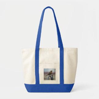 British Song Birds: Robin Fledgling Tote Bags