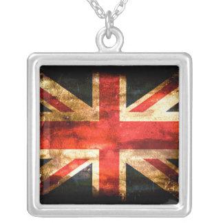 British Square Pendant Necklace