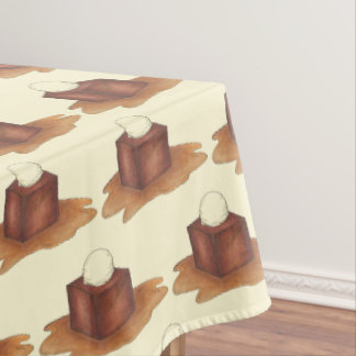 British Sticky Toffee Pudding Dessert Sweets Food Tablecloth