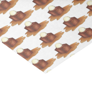 British Sticky Toffee Pudding Foodie Tissue Paper