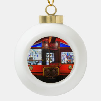 British Storefront Ceramic Ball Christmas Ornament