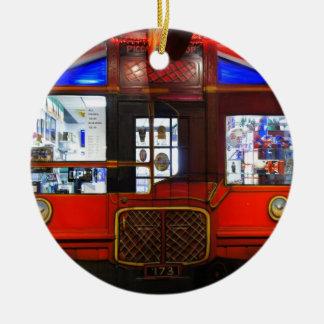 British Storefront Ceramic Ornament