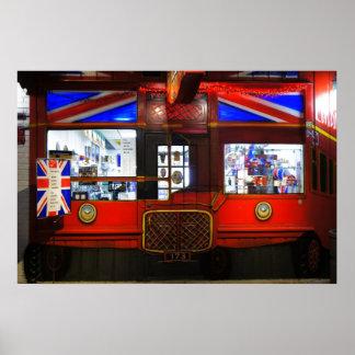 British Storefront Poster
