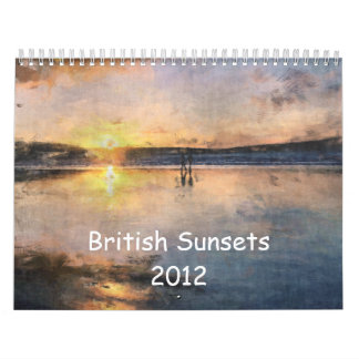 British Sunsets 2012 Calendar