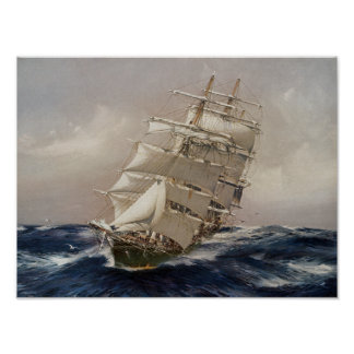 British Tea Clipper Thermopylae Poster