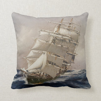 British Tea Clipper Thermopylae Throw Pillow