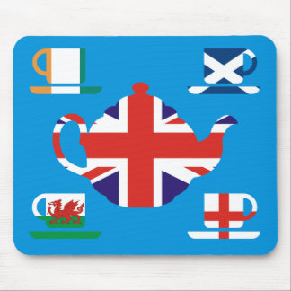 British Tea Great Britain Flags Mouse Pad