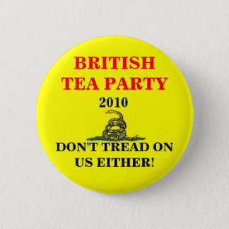 British Tea Party Button
