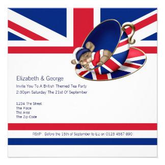 British Tea Party Personalized Invitation