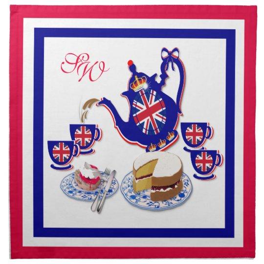 British Tea Time ~ Napkins # 2
