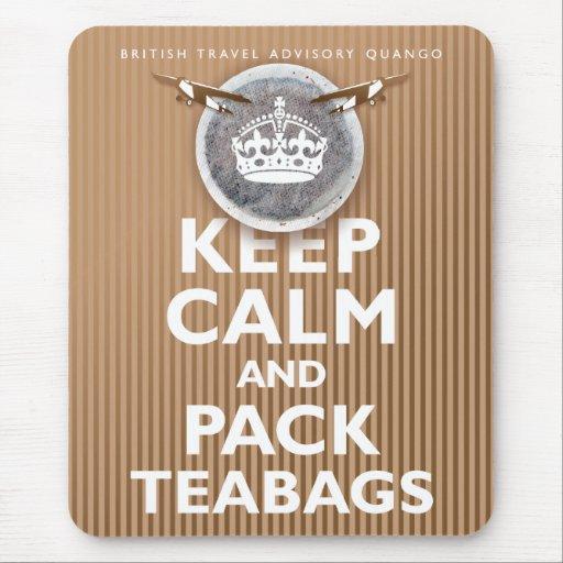 'British Teabag Advice' Mouse Pad