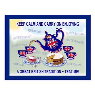 British Teatime  ~ Postcard