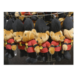 British Teddy Bear Guardsmen Postcard