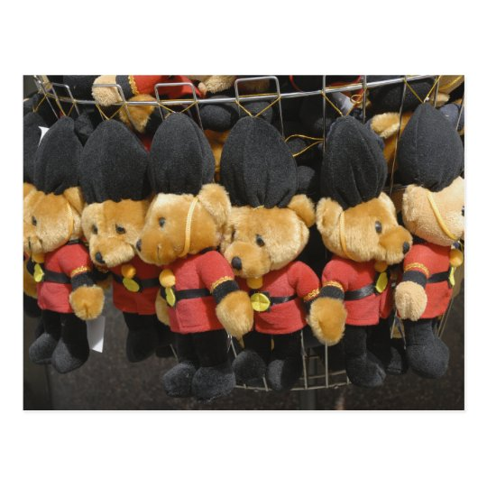 British Teddy Bear Guardsmen Postcard