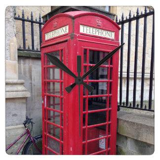 British Telephone Booth Clock