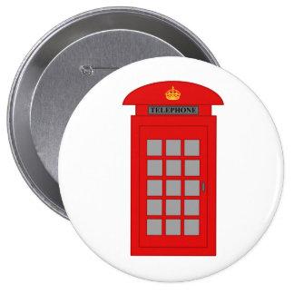British Telephone Box Button