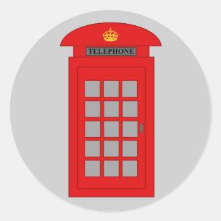 British Telephone Box Classic Round Sticker