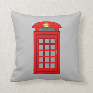 British Telephone Box Pillow