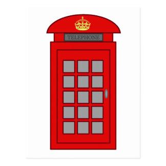 British Telephone Box Postcard