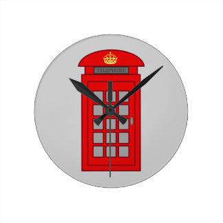 British Telephone Box Round Clock
