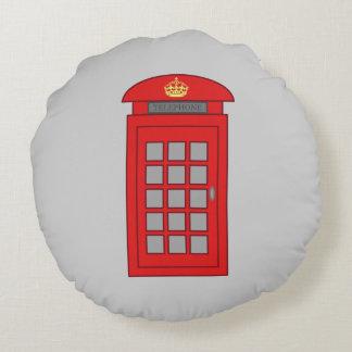 British Telephone Box Round Pillow