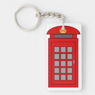 British Telephone Box Single-Sided Rectangular Acrylic Keychain