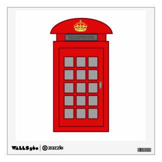 British Telephone Box Wall Skins