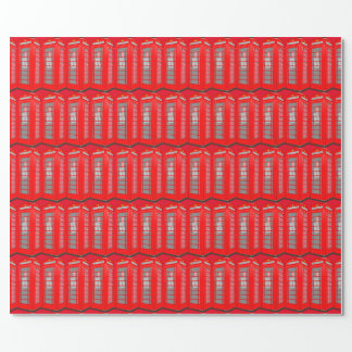British Theme London Phone Booth Wrapping Paper