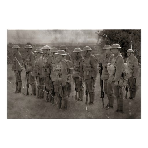 British Tommys in WW1 Poster Print