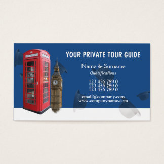 British tour guide tourism business card
