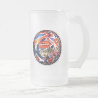 British Tourism Frosted Glass Beer Mug