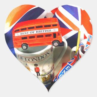British Tourism Heart Sticker