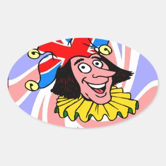 British tradition, Court Jester Oval Sticker