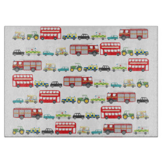 British Traffic Jam Cutting Board