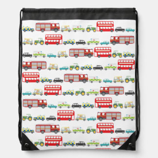 British Traffic Jam Drawstring Backpack