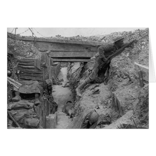 British Trench During the Battle of the Somme Card