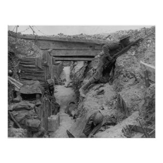 British Trench During the Battle of the Somme Poster