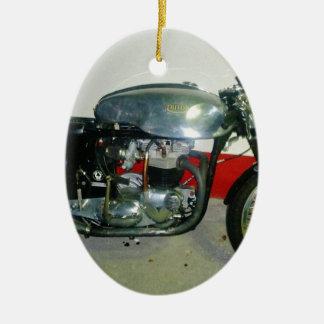 British Triton Motorcycle. Ceramic Ornament