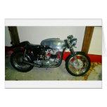 British Triton Motorcycle. Greeting Card
