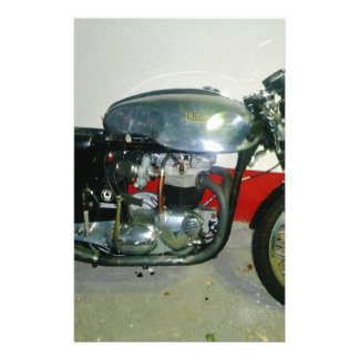 British Triton Motorcycle. Stationery